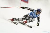 Česká lyžařka Ester Ledecká v superobřím slalomu Světového poháru v La Thuile