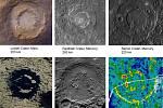 Ukázky dalších kráterů na Zemi, Měsíci, Marsu či Merkuru