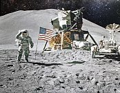 Přistání na Měsíci - Ilustrační foto