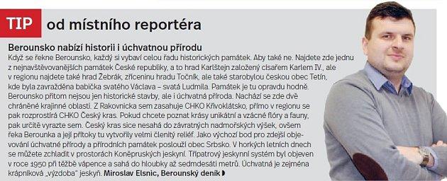 Berounsko, tip reportéra
