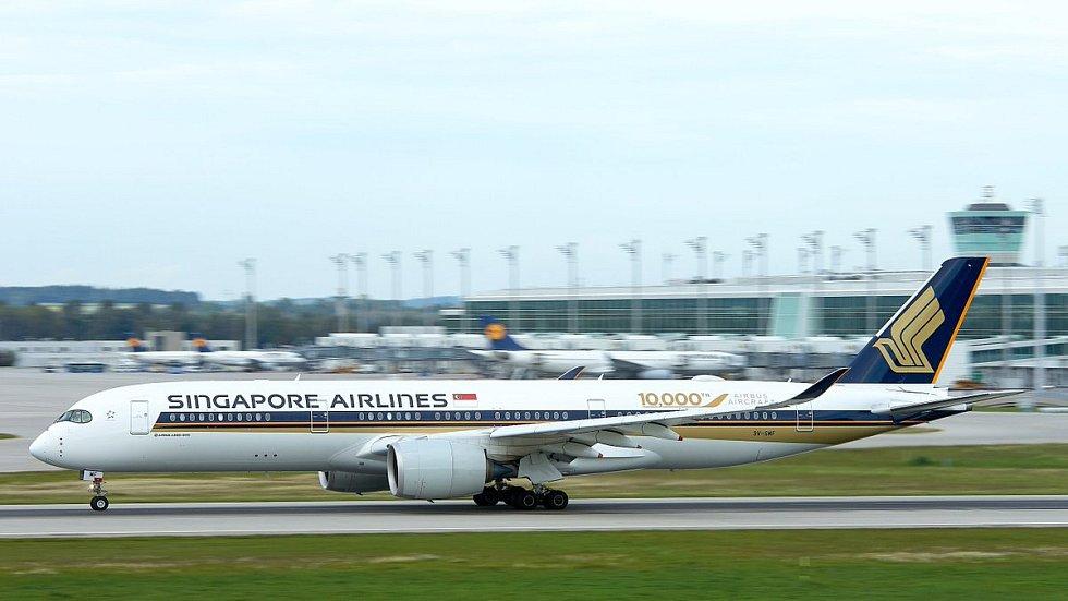 Letoun Airbus A350-900 společnosti Singapore Airlines