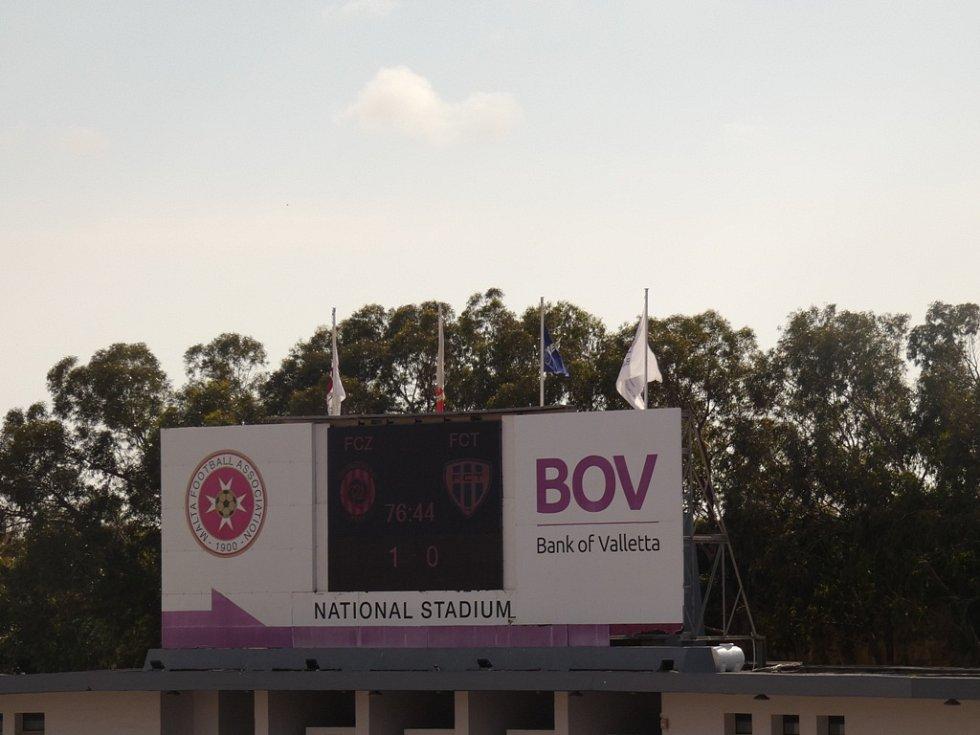 Fotbalový stadion na Maltě.
