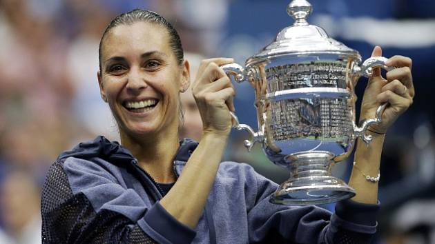 Flavia Pennettaová ve finále US Open porazila italskou krajanku Robertu Vinciovou