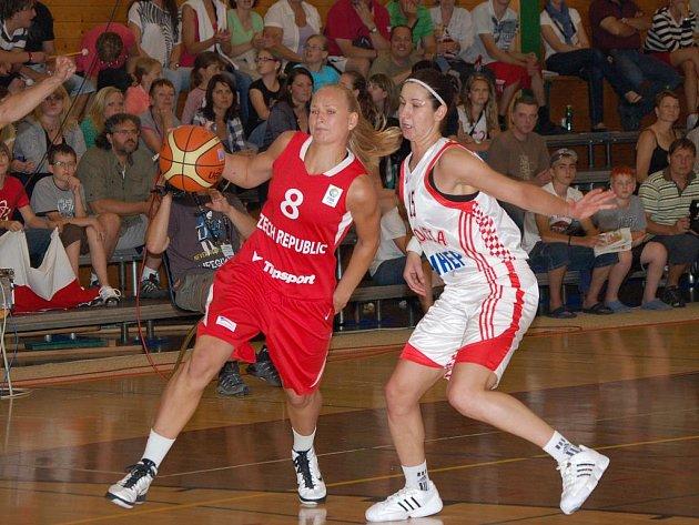 Basketbalistky ČR podlehly v Klatovech dne 9. 6. v přípravném zápase Chorvatkám 80:86.