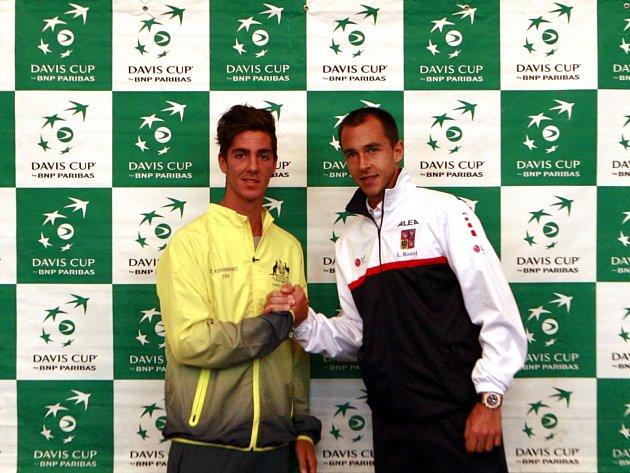 Davis Cup: Los zápasu Česko vs. Austrálie (Lukáš Rosol a Thanasi Kokkinakis)