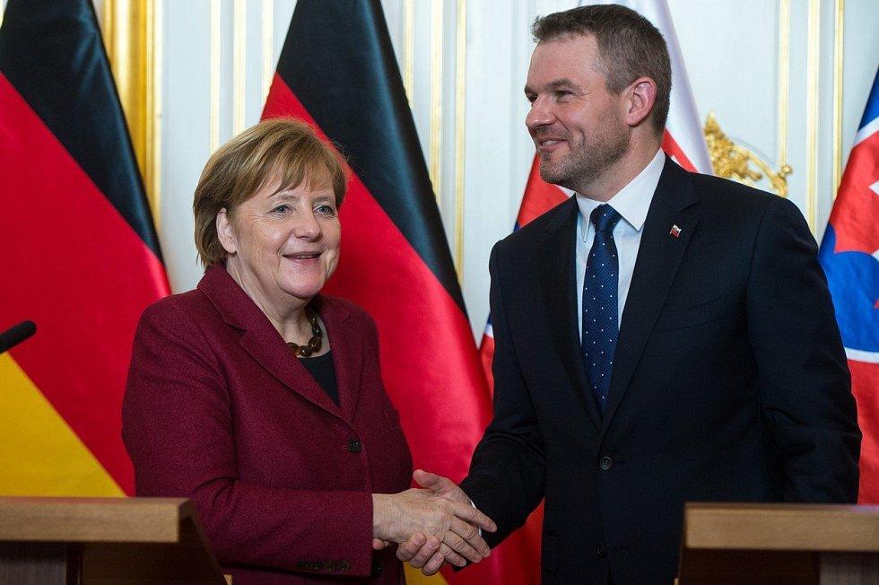 Angela Merkelová a Peter Pellegrini v Bratislavě