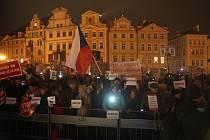Lidé vyšli do ulic protestovat proti Andreji Babišovi.