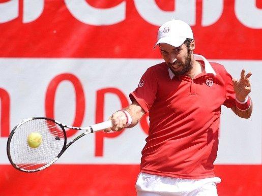 Tenisový Challenger UniCredit Czech Open, finále dvouhry, 4. června v Prostějově. Na snímku je vítěz Michail Kukuškin z Kazachstánu.