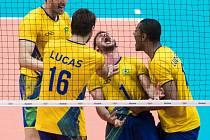Volejbalisté Brazílie ve finále olympijských her v Riu.