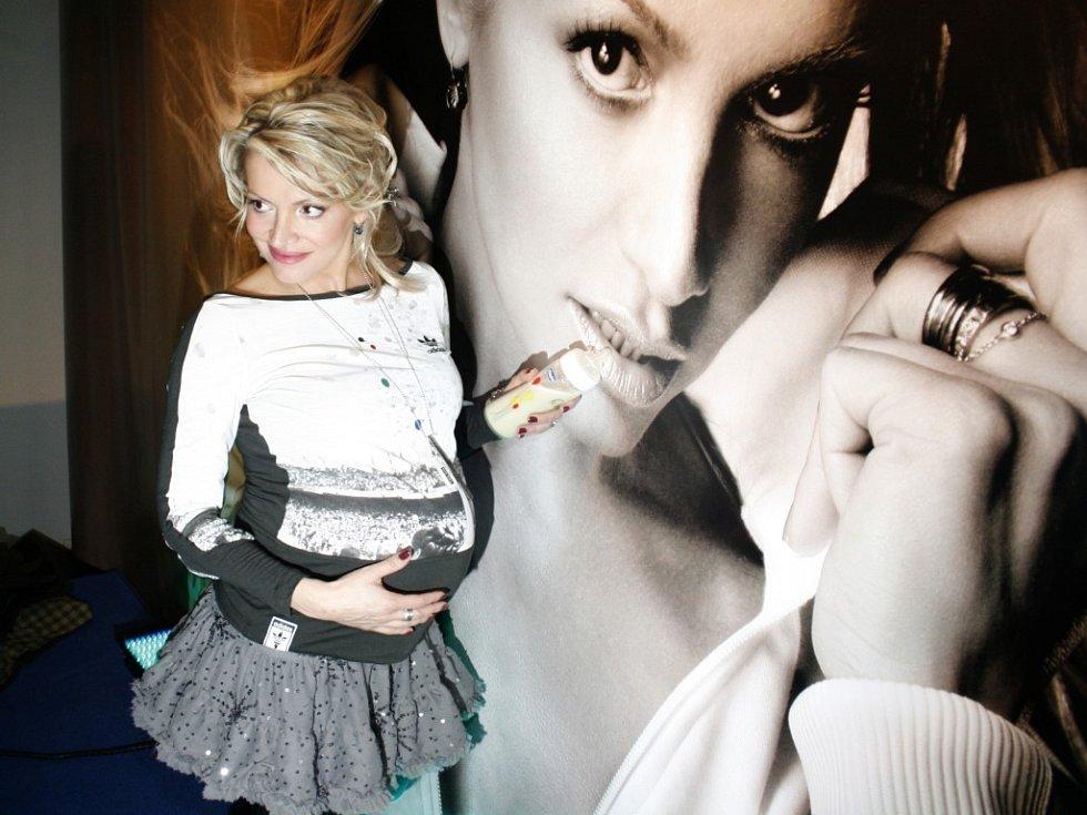 Dara Rolinsová představila své nové CD ve vysokém stupni těhotenství.