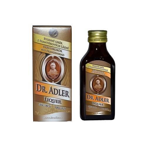 Bylinný likér Dr. Adler - Pro Františkovy lázně se vyrábí ze 32 bylin klasickou macerací v alkoholu. Kromě bylin, alkoholu a cukru neobsahuje žádné příchuti ani barviva.