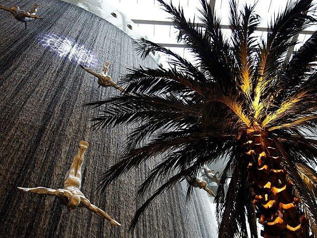Výzdoba nejluxusnějšího obchodního centra na světě Dubai mall.