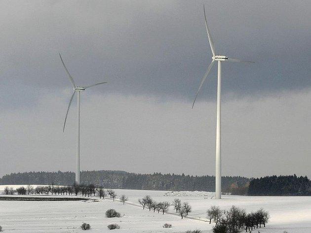 Větrné elektrárny v Pavlově u Jihlavy.