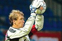 Zlínský brankář Vít Baránek udržel v nové sezoně už čtyřikrát čisté konto.