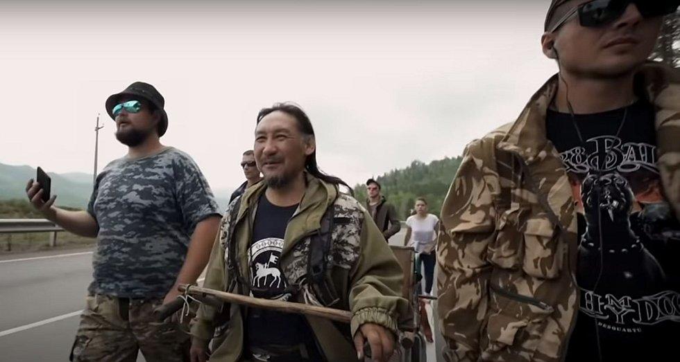 Alexandr Gabyšev během své cesty z Dálného východu do Moskvy