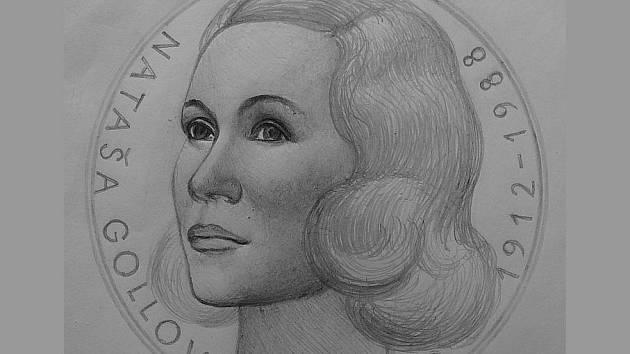 Deník jako první získal první kresebné návrhy některých medailí Kalendária 2012. Nákres pro úvodní titul připomínající Natašu Gollovou od známého tvůrce pamětních medailí a mincí Josefa Oplištila.