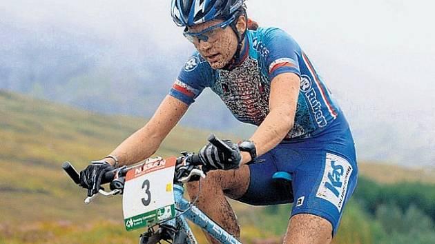 Bikerka Tereza Huříková skončila na mistrovství světa v cross country čtvrtá.