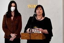 První dáma Ivana Zemanová na tiskové konferenci o zdravotním stavu prezidenta Miloše Zemana