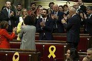 Katalánský parlament. Zvolení předsedy Rogera Torrenta