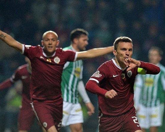 Bohemians - Sparta: David Lafata slaví rozhodující gól