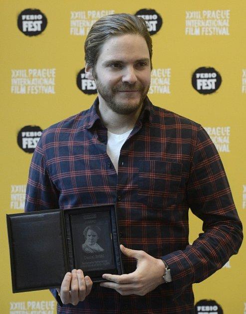 Herec Daniel Brühl vystoupil 20.března vPraze na tiskové konferenci, která se konala vrámci 23.ročníku mezinárodního filmového festivalu Febiofest.