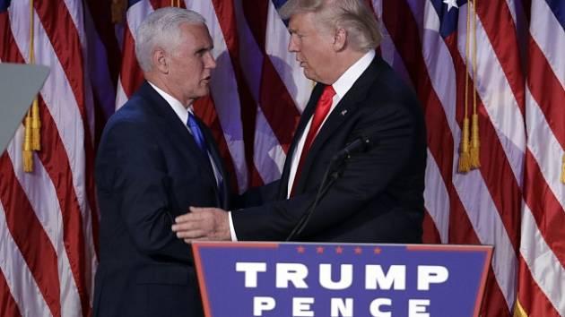 Mike Pence a Donald Trump.