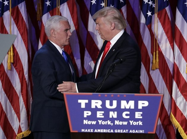 Mike Pence a Donald Trump.
