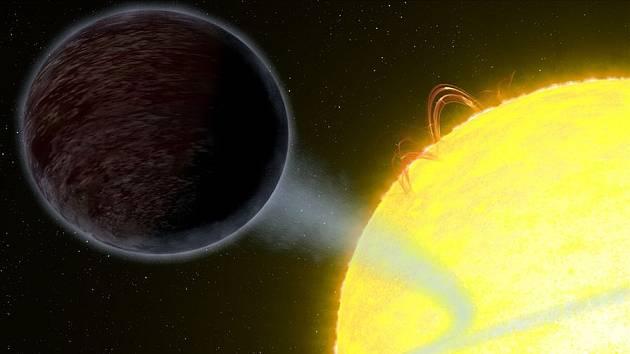 Umělecká představa planety WASP-12b