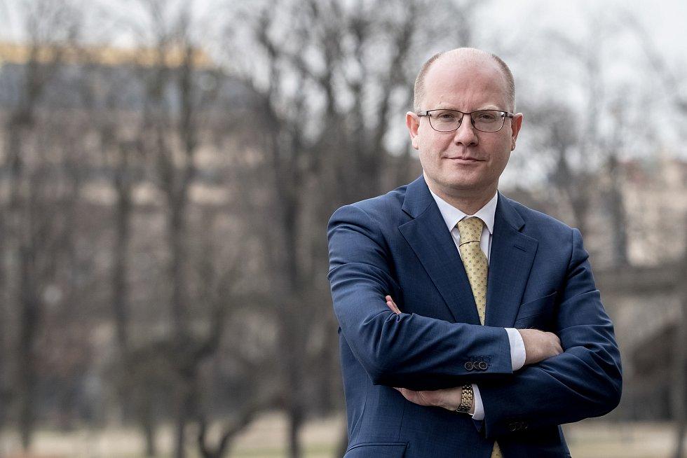 Bohuslav Sobotka poskytl 22. března 2018 v Praze rozhovor Deníku.
