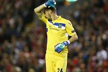 Milan Borjan a jeho reakce po těsné porážce na Liverpoolu