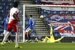 Odveta osmifinále fotbalové Evropské ligy: Glasgow Rangers - Slavia Praha