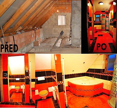 Finance ze stavebního spoření posloužily na přestavbu půdy na samostatnou bytovou jednotku a to včetně zateplení celého podkroví stříkanou izolací Icynene.