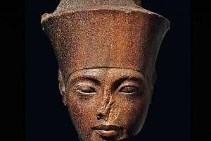 Busta krále Tutanchamona, faraona Horního a Dolního Egypta