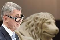 Předseda hnutí ANO a premiér Andrej Babiš vystoupil 16. června 2020 v Praze na tiskové konferenci před jednáním Sněmovny