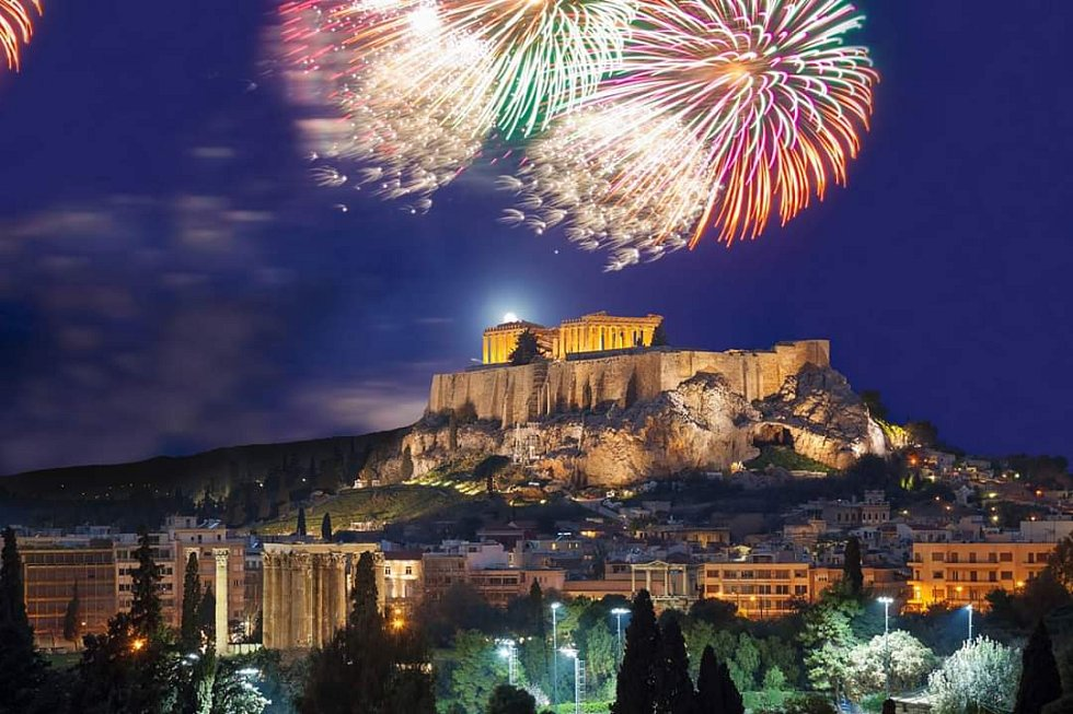 Novoroční oslavy v Athénách