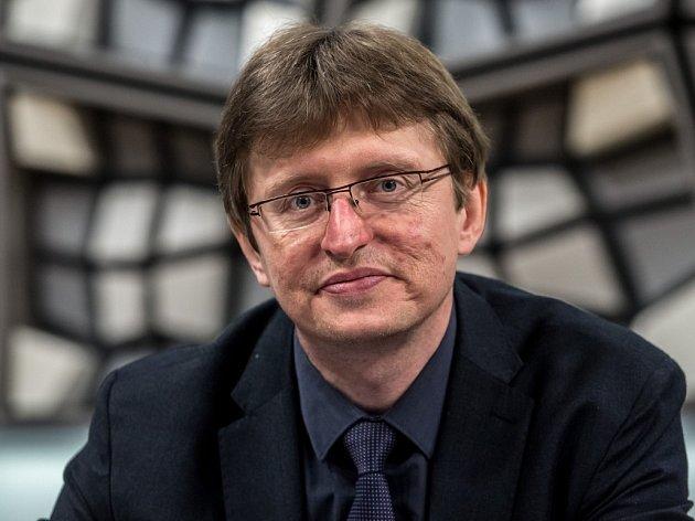 Rada Českého rozhlasu volila 20. ledna v Praze nového ředitele. Na snímku předseda rady Petr Šafařík.