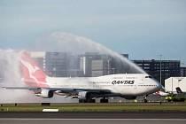 Poslední rozlučka s Boeingem 747 v Sydney.