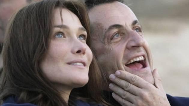 Carla Bruni s Nicolasem Sarkozym