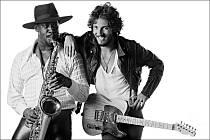 Boss a spol. Bruce (vpravo) a Clarence Clemons