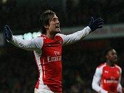 Nezklamal. Tomáš Rosický vystřelil Arsenalu vítězství nad Queen Park Rangers.