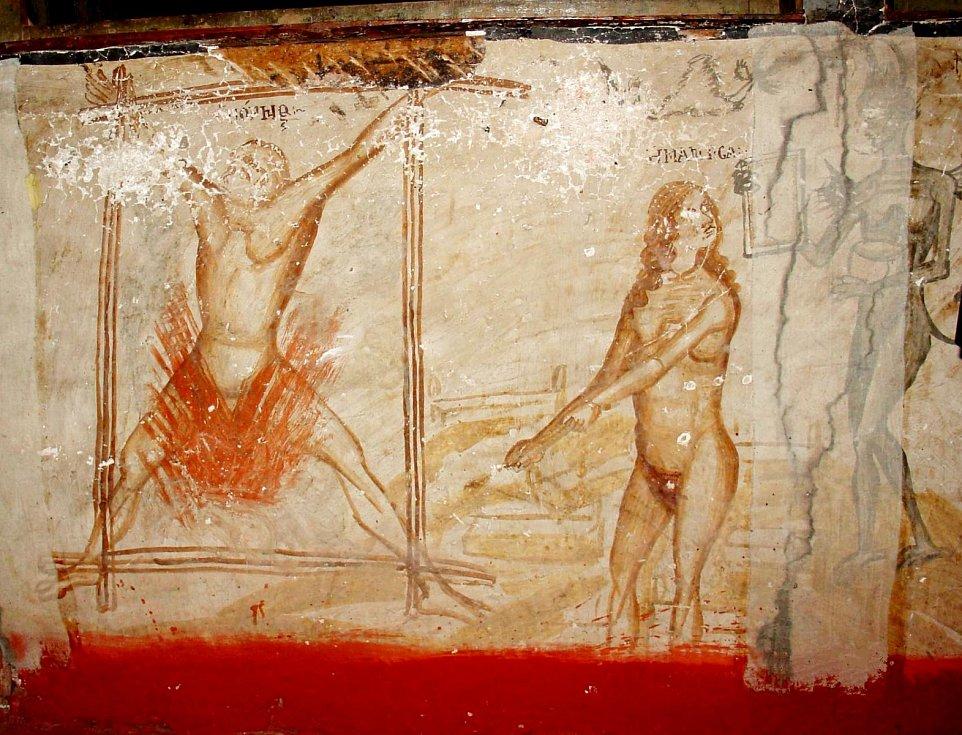 """Démoni mučí """"smilníka"""" a """"čarodějnici"""", iluminace Davida Selinitziotise"""