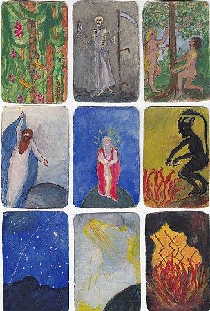 Malované karty Emy Destinnové.