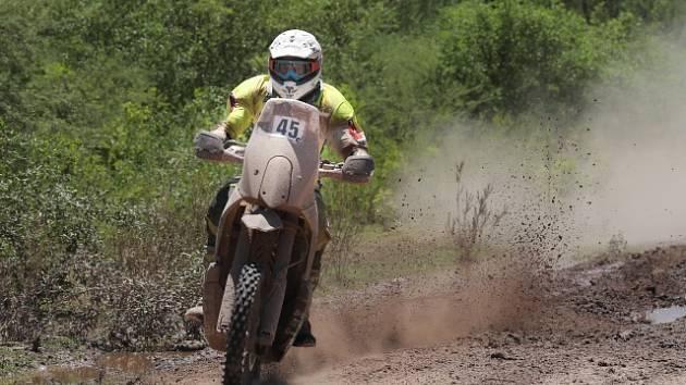 Ondřej Klymčiw na trati Dakaru 2017.