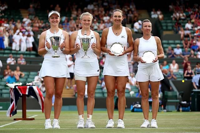 Finalistky ženské čtyřhry na Wimbledonu 2018