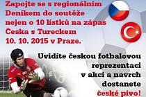 Užijte si s regionálním Deníkem událost fotbalového podzimu s českou reprezentací a pivem Gambrinus.