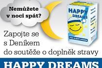 Zapojte se s regionálním Deníkem do soutěže o doplněk stravy HAPPY DREAMS.