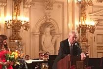 Prezident Miloš Zeman oznámil svoji kandidaturu