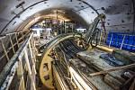 Proražení železničního tunelu na železniční trati mezi Štýrským Hradcem a korutanským Celovcem