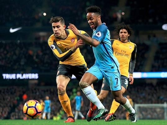 Manchester City versus Arsenal
