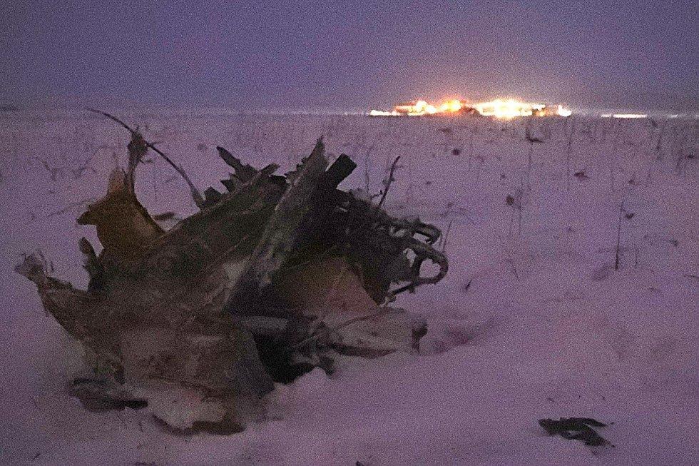 Trosky zříceného ruského letounu An-148